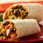 Crispy Black Bean & Rice Burritos